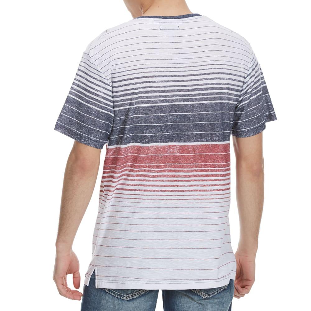 OCEAN CURRENT Guys' Trojan Stripe Knit Short-Sleeve Tee - WHITE