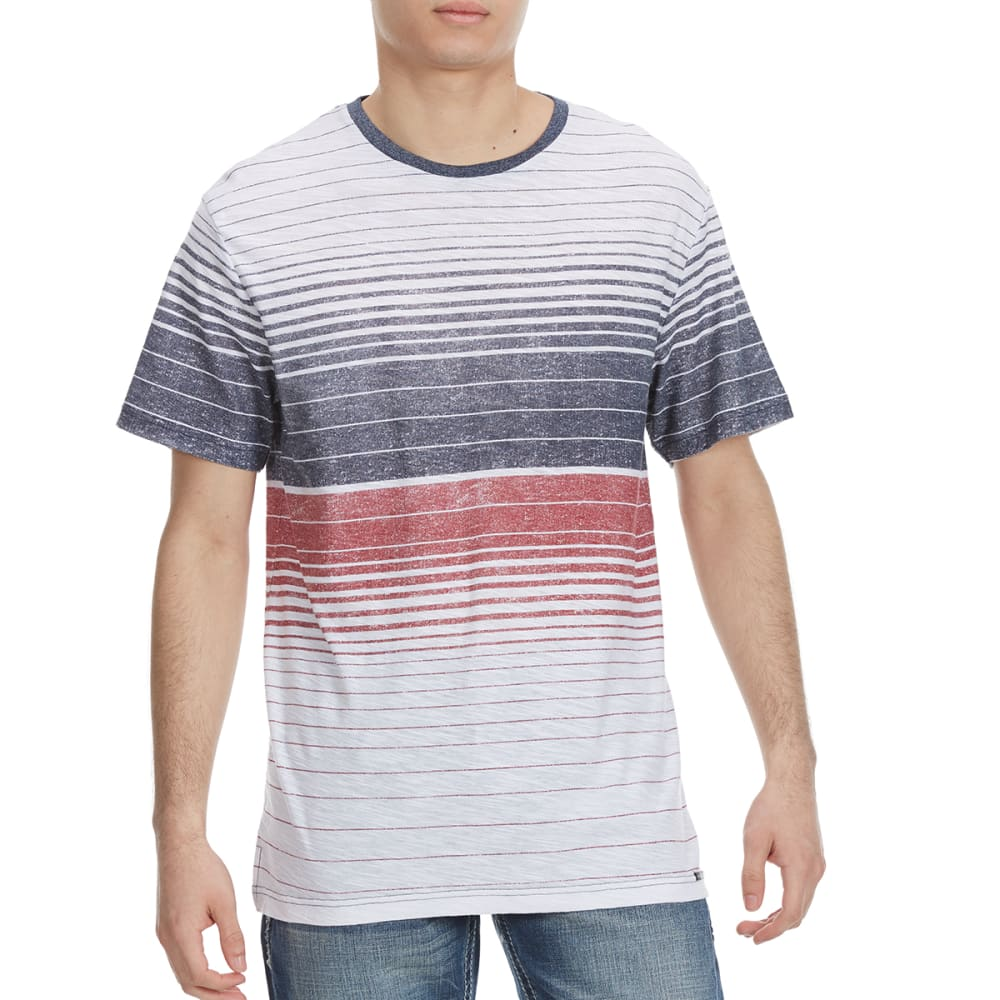 OCEAN CURRENT Guys' Trojan Stripe Knit Short-Sleeve Tee - WHITE