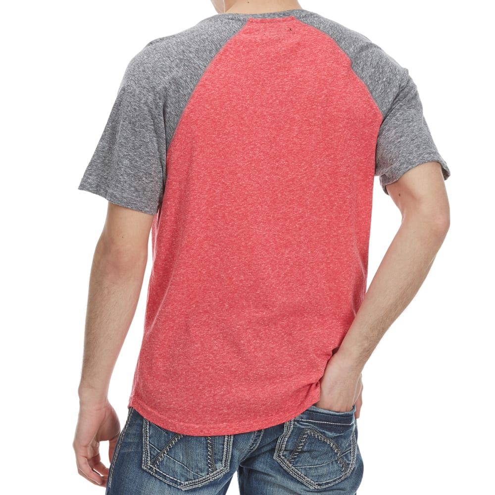 OCEAN CURRENT Guys' Ramirez Raglan Short-Sleeve Tee - NEW RED