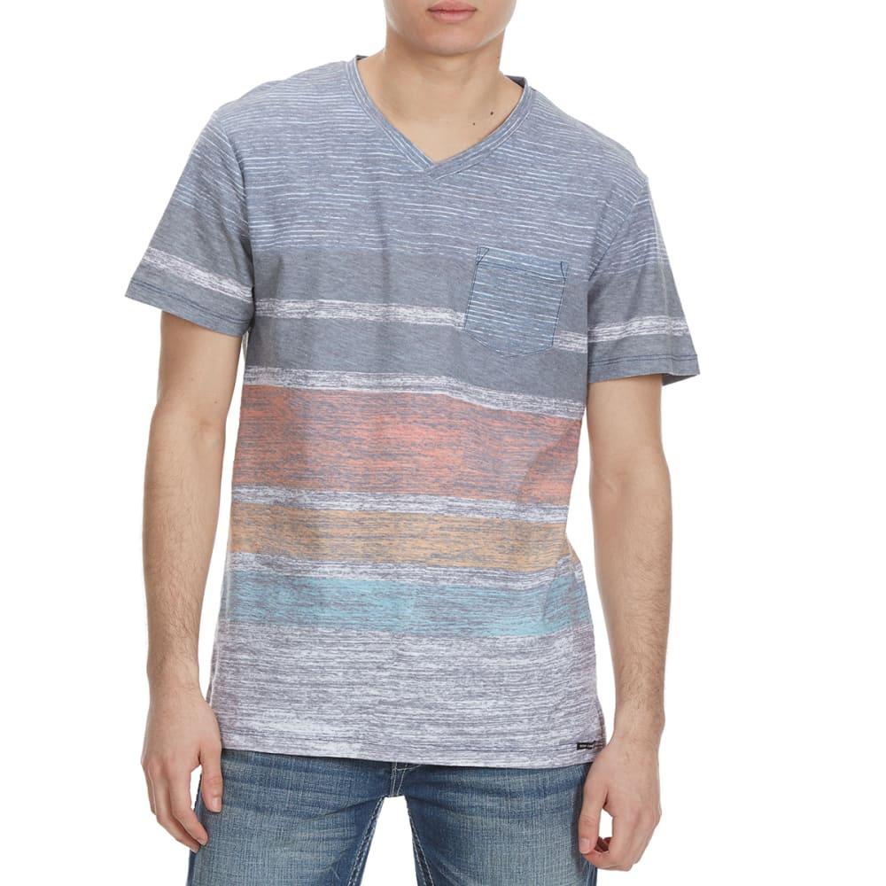OCEAN CURRENT Guys' Trevino Stripe Knit Short-Sleeve Tee - WHITE