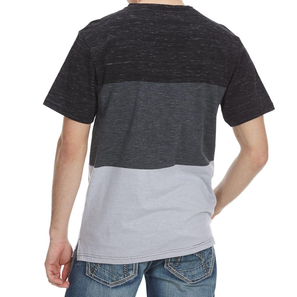 OCEAN CURRENT Guys' Randolph Color-Block Knit Short-Sleeve Tee - BLACK