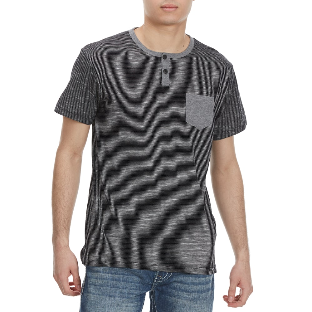Ocean Current Guys' Serrano Pocket Henley Short-Sleeve Shirt - Black, S