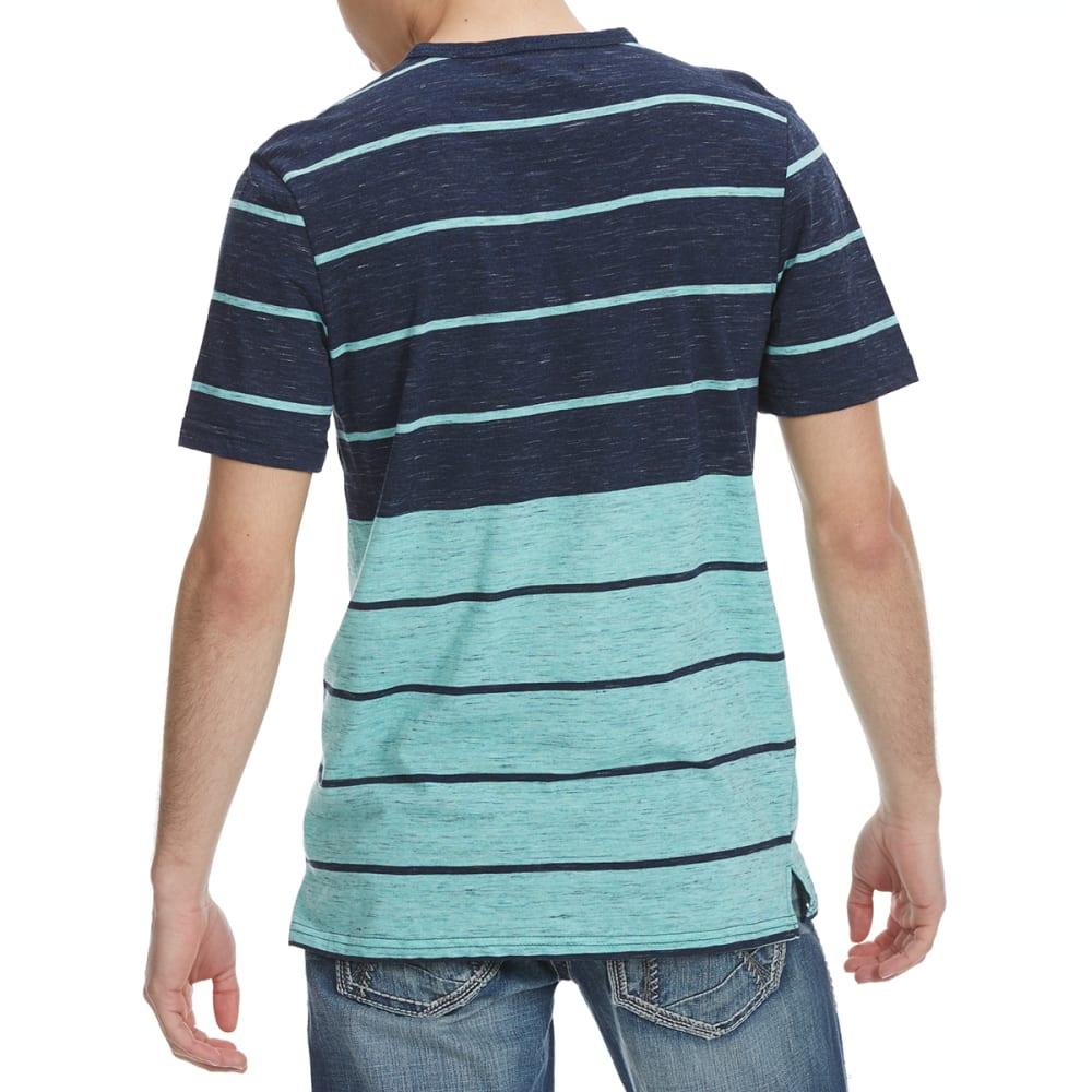 OCEAN CURRENT Guys' Gunner Stripe Short-Sleeve Tee - INDIGO/MINT