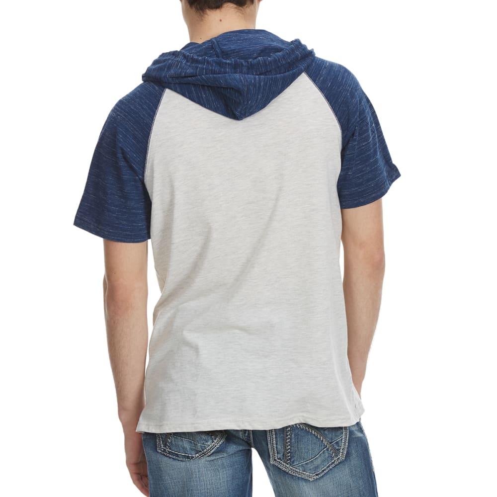 OCEAN CURRENT Guys' Huns Short Sleeve Hooded Text Jersey - OATMEAL