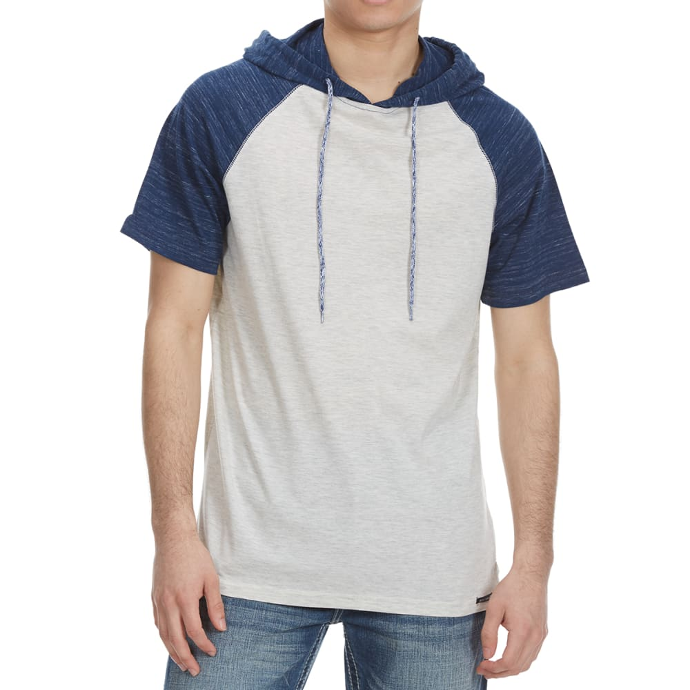 OCEAN CURRENT Guys' Huns Short Sleeve Hooded Text Jersey - OATMEAL