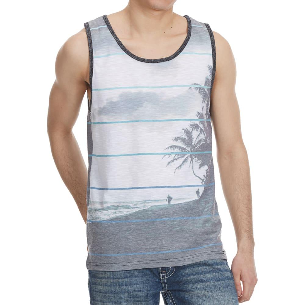 OCEAN CURRENT Guys' Alvarado Palm Scene Tank Top - BLACK/WHITE