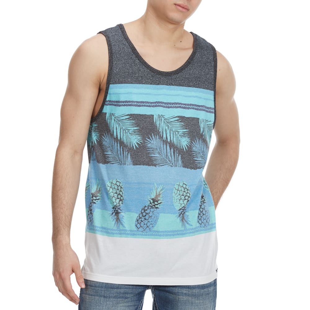 OCEAN CURRENT Guys' Suarez Pineapple Tank Top - WHITE/TURQ