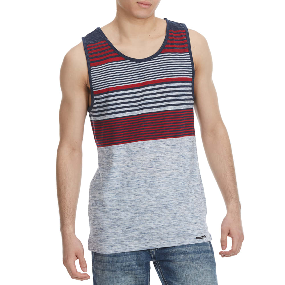 OCEAN CURRENT Guys' Steel Striped Tank Top - MIDNIGHT