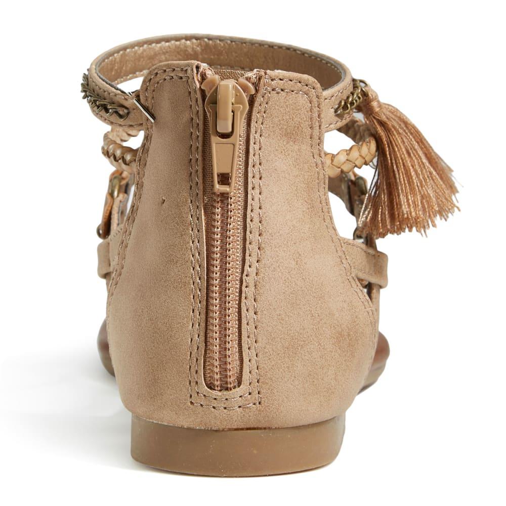 JELLYPOP Women's Ravenna Beaded Chain Flat Sandals - SAND