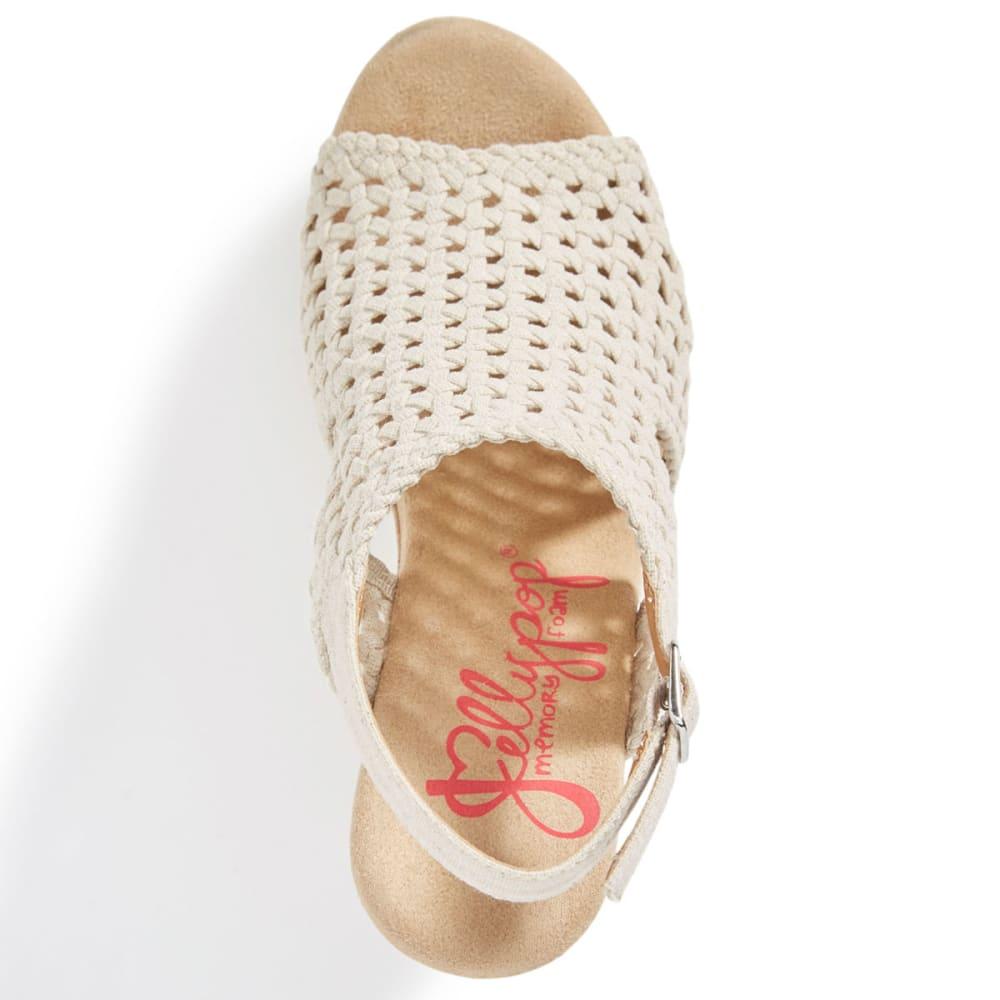 JELLYPOP Women's Dianna Wedge Sandals, Natural Linen - NATURAL