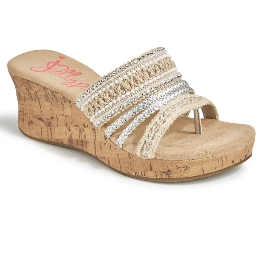 JELLYPOP Women's Mayra Woven Espadrille Wedge Shoes, Natural Multi - NATURAL