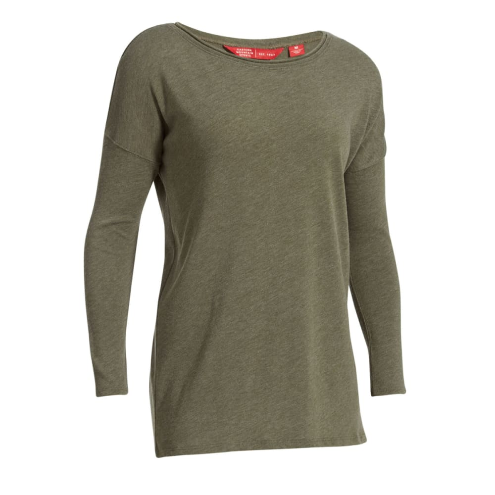 Ems(R) Women's Scoop Knit Long-Sleeve Shirt - Green, S