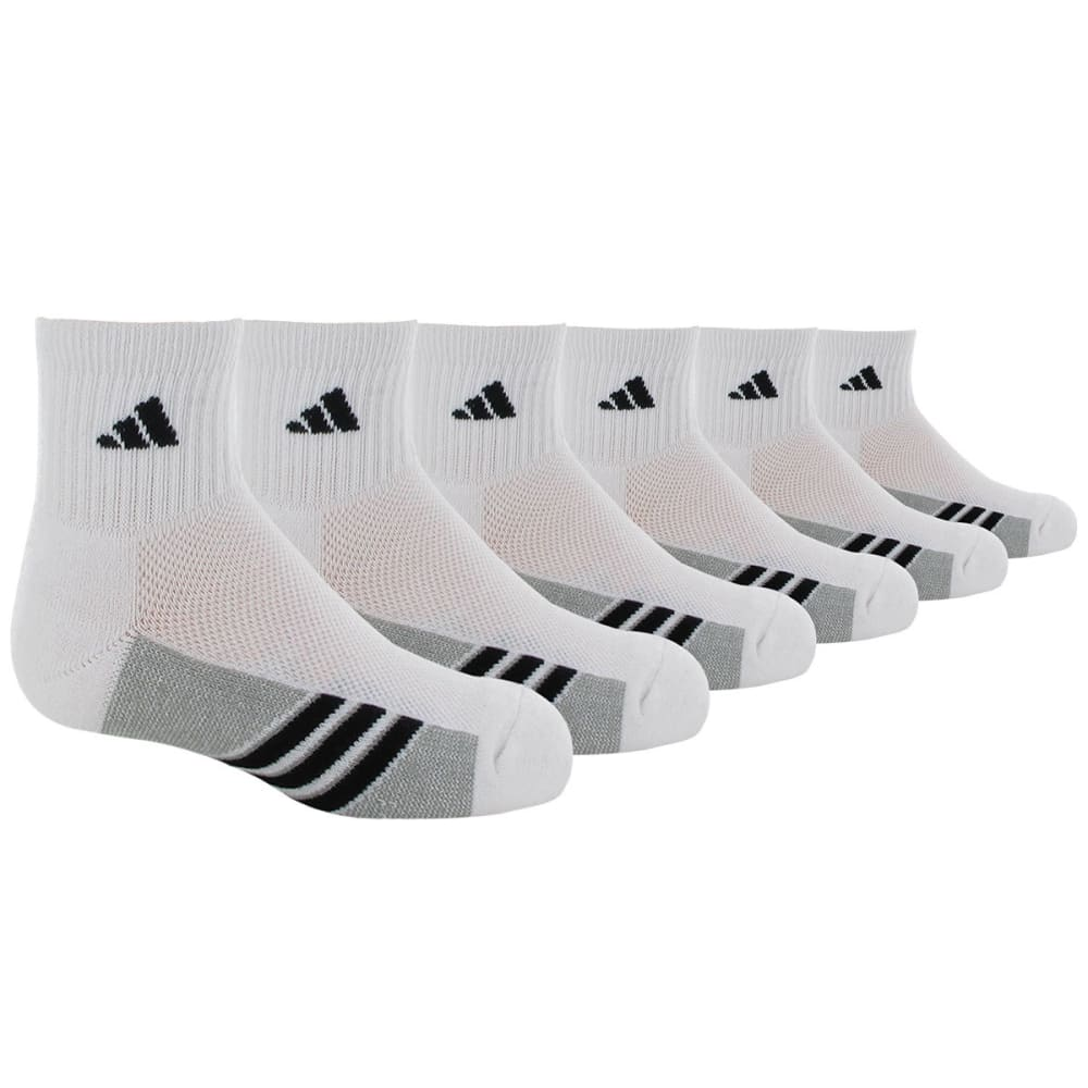 Adidas Youth Graphic Quarter-Height Socks - White, M
