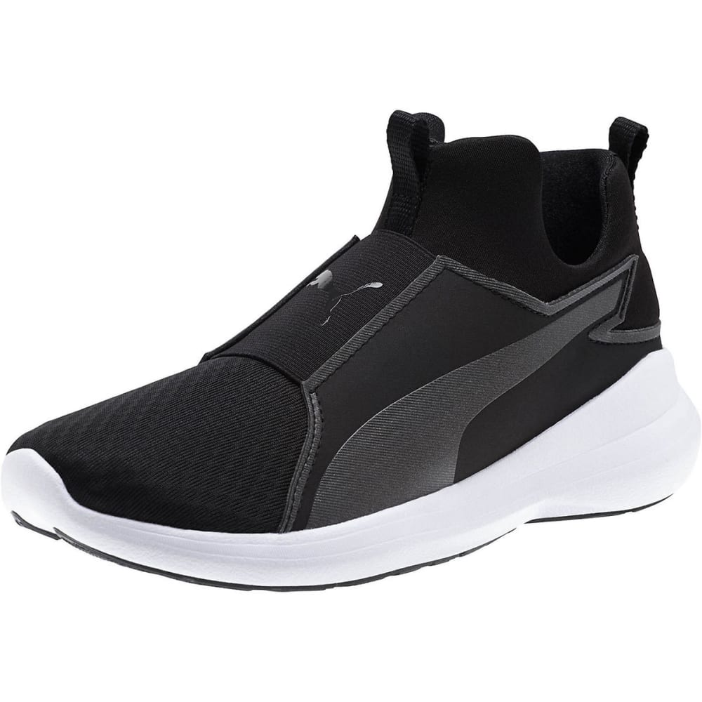 PUMA Women's Rebel Mid Training Shoes, Black - BLACK