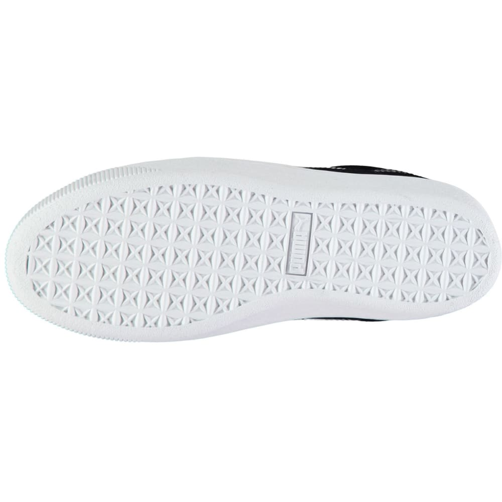 PUMA Women's Vikky Platform Sneakers, Black/White - BLACK