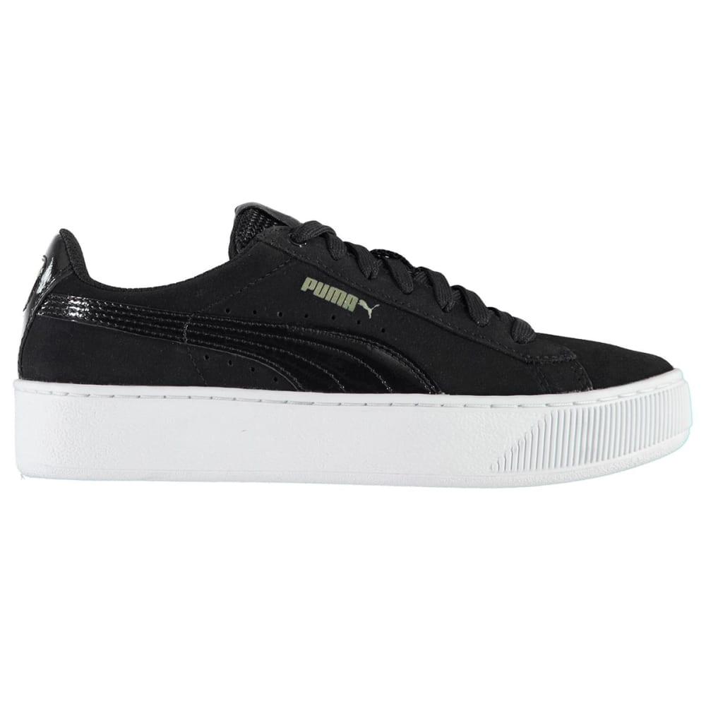Puma Women's Vikky Platform Sneakers, Black/White by Puma Women's Vikky Platform Sneakers, Black/White