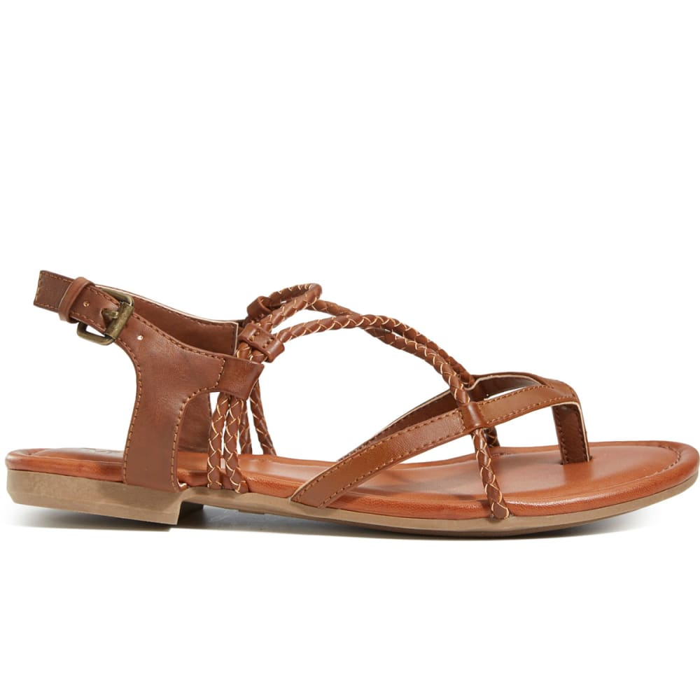 MIA Women's Dana Flat Sandals, Luggage - LUGGAGE