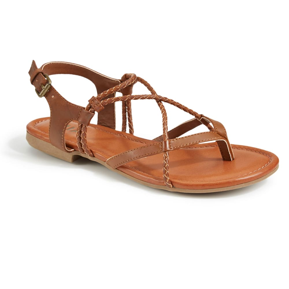 MIA Women's Dana Flat Sandals, Luggage - LUGGAGE