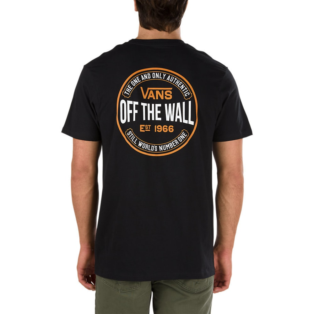 VANS Guys' Ten Cents Short-Sleeve Tee - BLACK OVERDYE