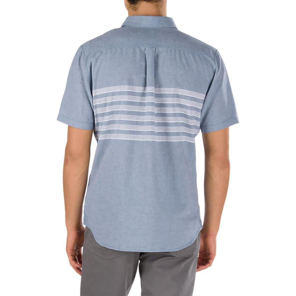 VANS Guys' Wallace Woven Short-Sleeve Shirt - BLUE MIRAGE