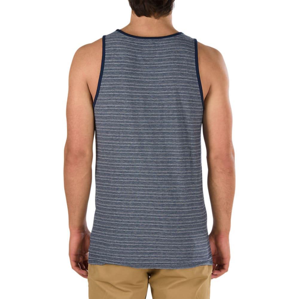 VANS Guys' Balboa II Mini Stripe Tank Top, Dress Blue - DRESS BLUE