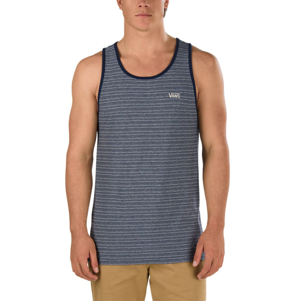 VANS Guys' Balboa II Mini Stripe Tank Top, Dress Blue - DRESS BLUE