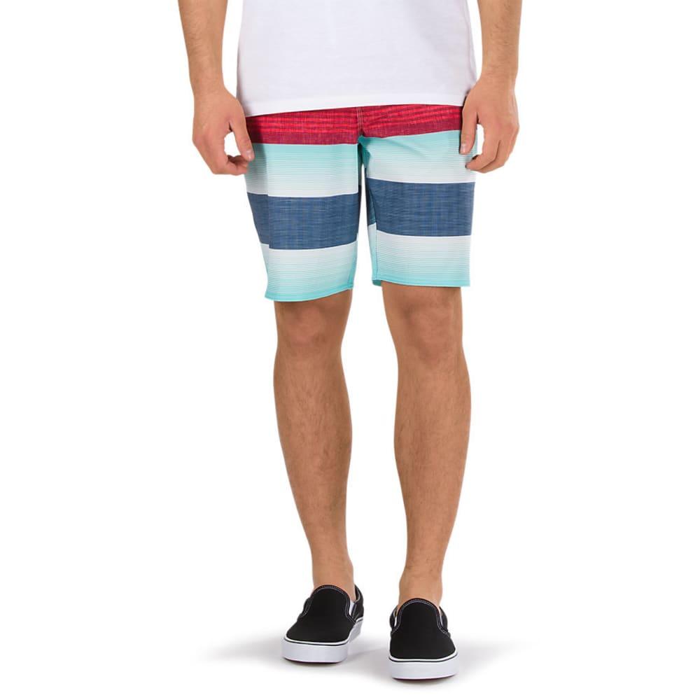 VANS Guys' 20 IN. Era Board Shorts - RACING RED VERTEX ST