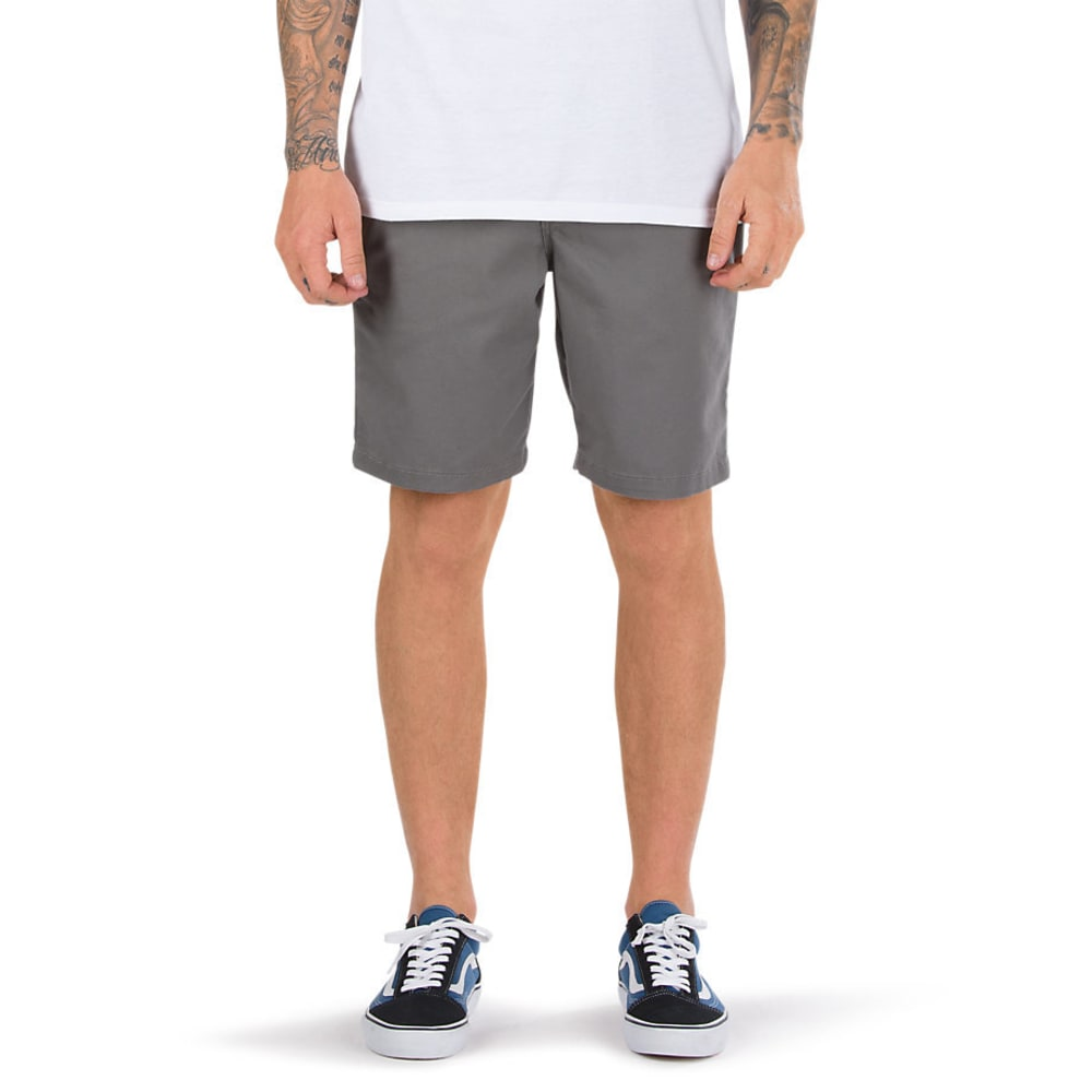 VANS Guys' 20 in. Authentic Stretch Shorts - PEWTER