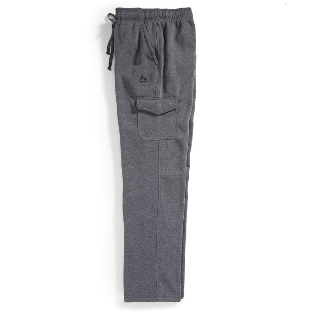 RBX Men's CVC Fleece Pants with Back Pocket - CHARCOAL HEATHER