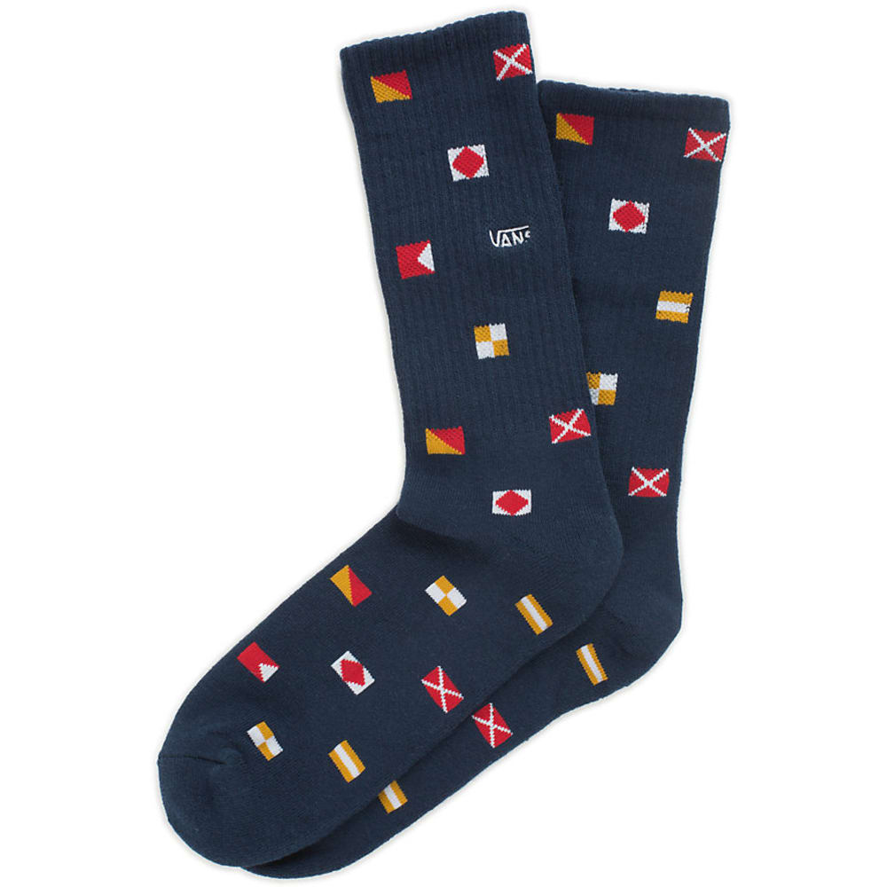 VANS Guys' Nautical Flags Crew Socks - NAUTICAL NAVY