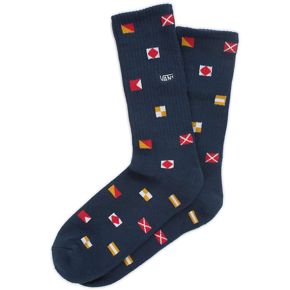 VANS Guys' Nautical Flags Crew Socks - NAUTICAL NAVY
