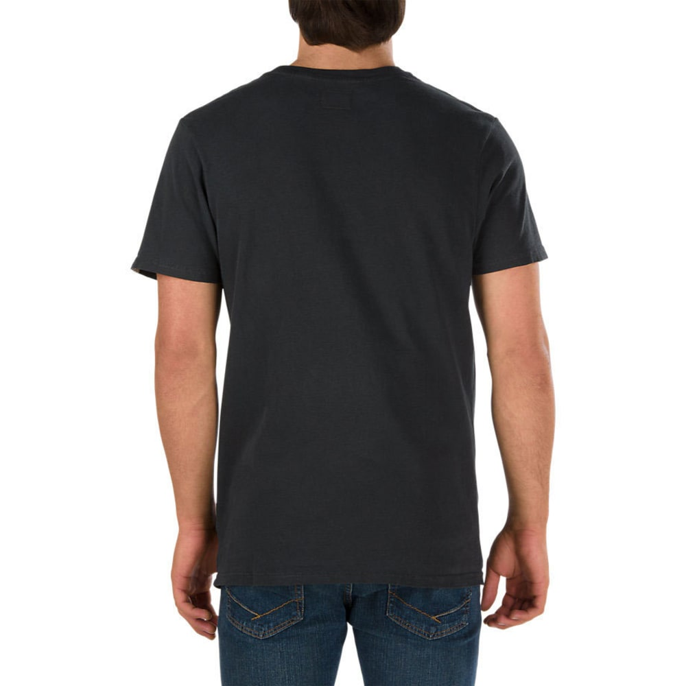 VANS Guys' Retro Dual Palm Short-Sleeve Tee - BLACK OVERDYE