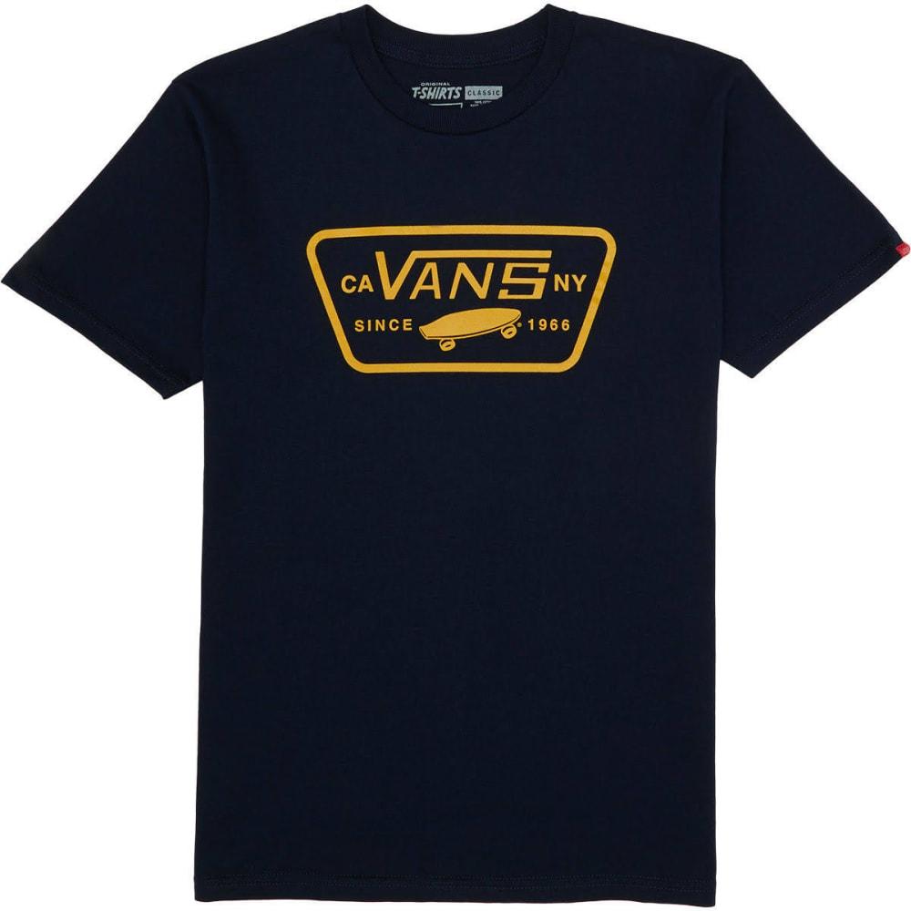 VANS Guys' Full Patch Short-Sleeve Tee - NAVY/GOLDEN GLOW