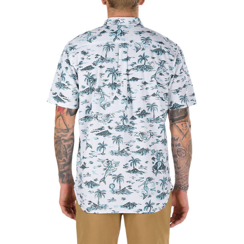 VANS Guys' Strange Tides Printed Woven Short-Sleeve Shirt - STRANGE TIDES