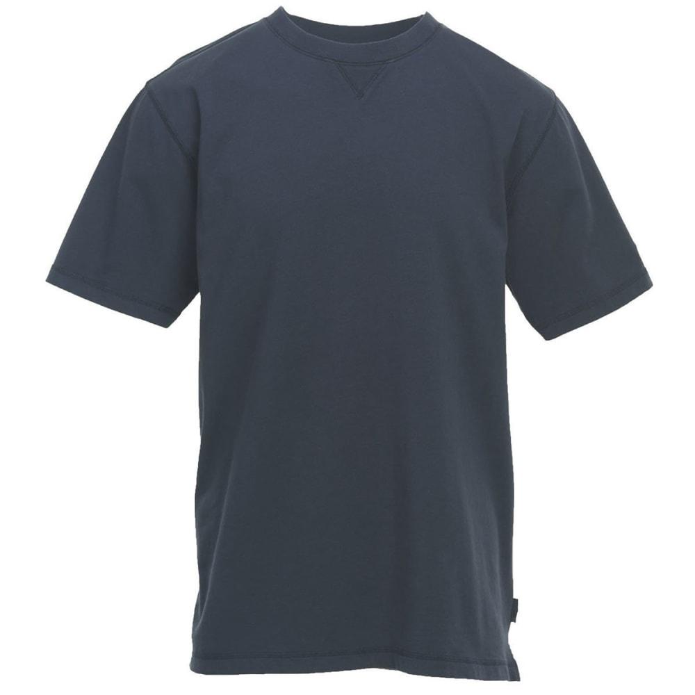 WOOLRICH Men's First Forks Solid T-Shirt - DEEP INDIGO- DIN