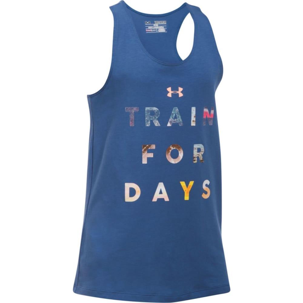 UNDER ARMOUR Girls' Train For Days Tank Top - DEEPPERI/PPEACH178