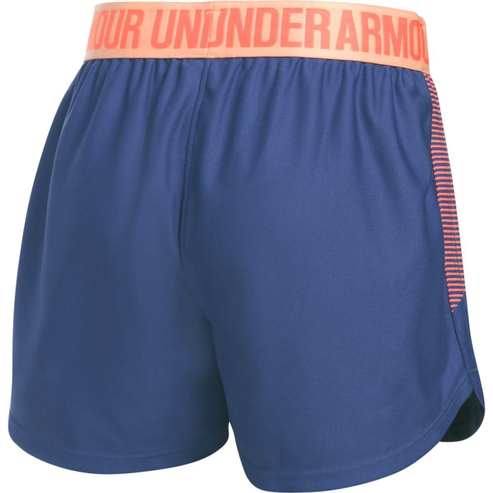 UNDER ARMOUR Girls' Play Up Graphic Shorts - DEEPPERI/PLYPEACH178
