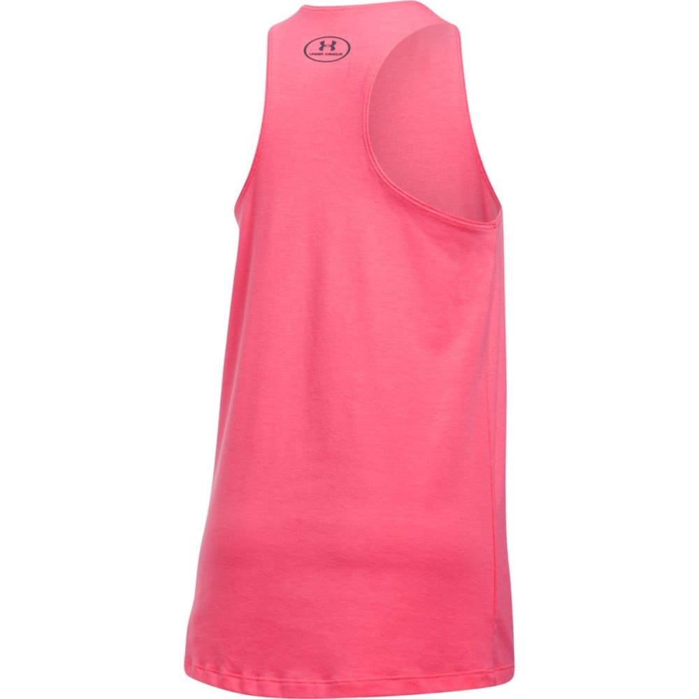 UNDER ARMOUR Girls' Don't Sweat It Tank Top - SUPERPINK/GGRY-672