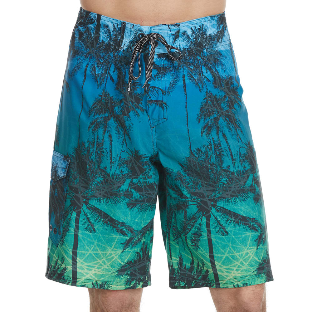 OCEAN CURRENT Guys' Tropical Palms Boardshorts 28