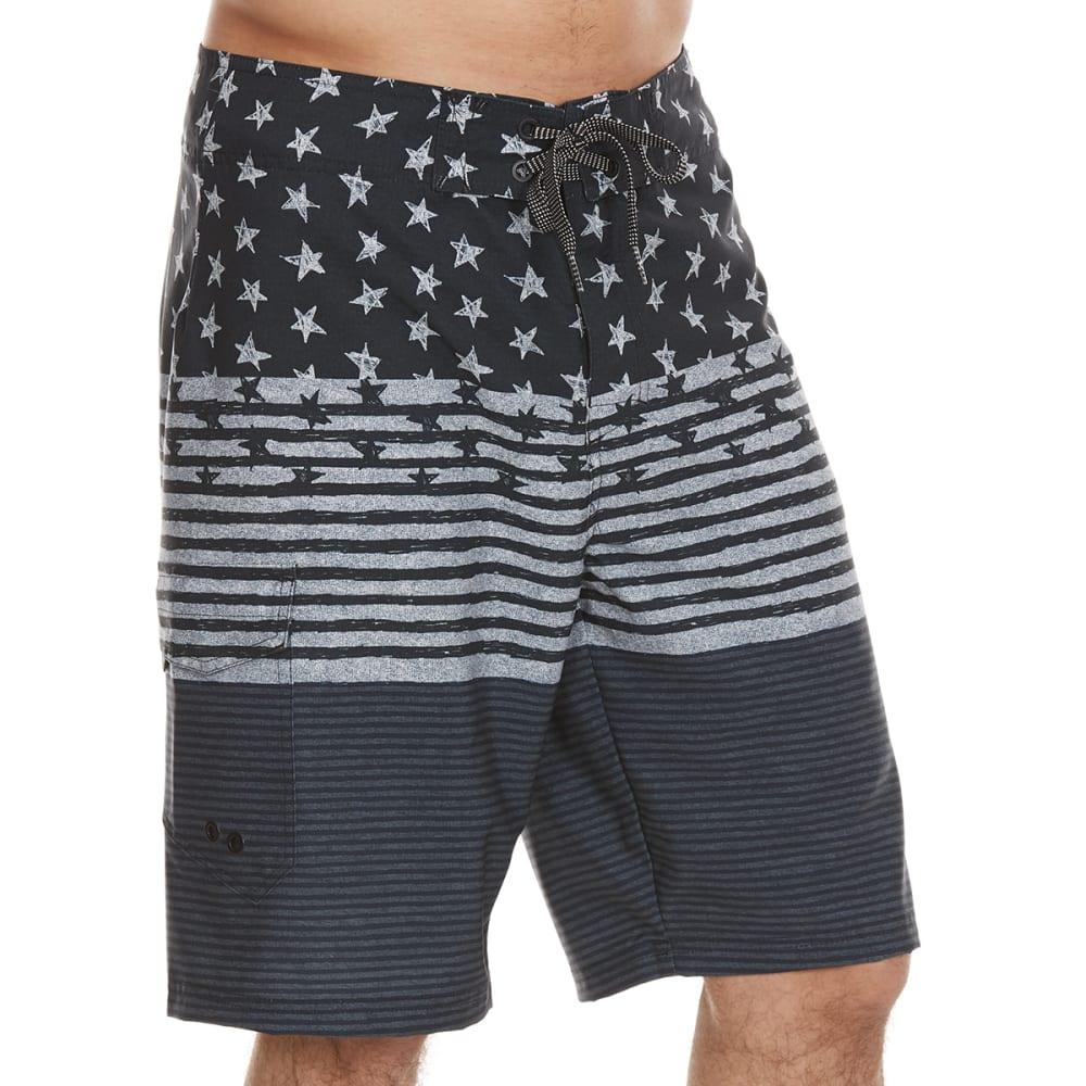 OCEAN CURRENT Guys' Spangler Tonal Boardshorts - GREY
