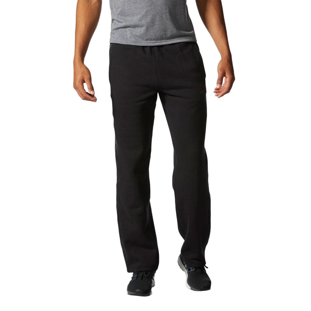 ADIDAS Men's Essential Cotton Fleece Pants - BLACK -AC3944