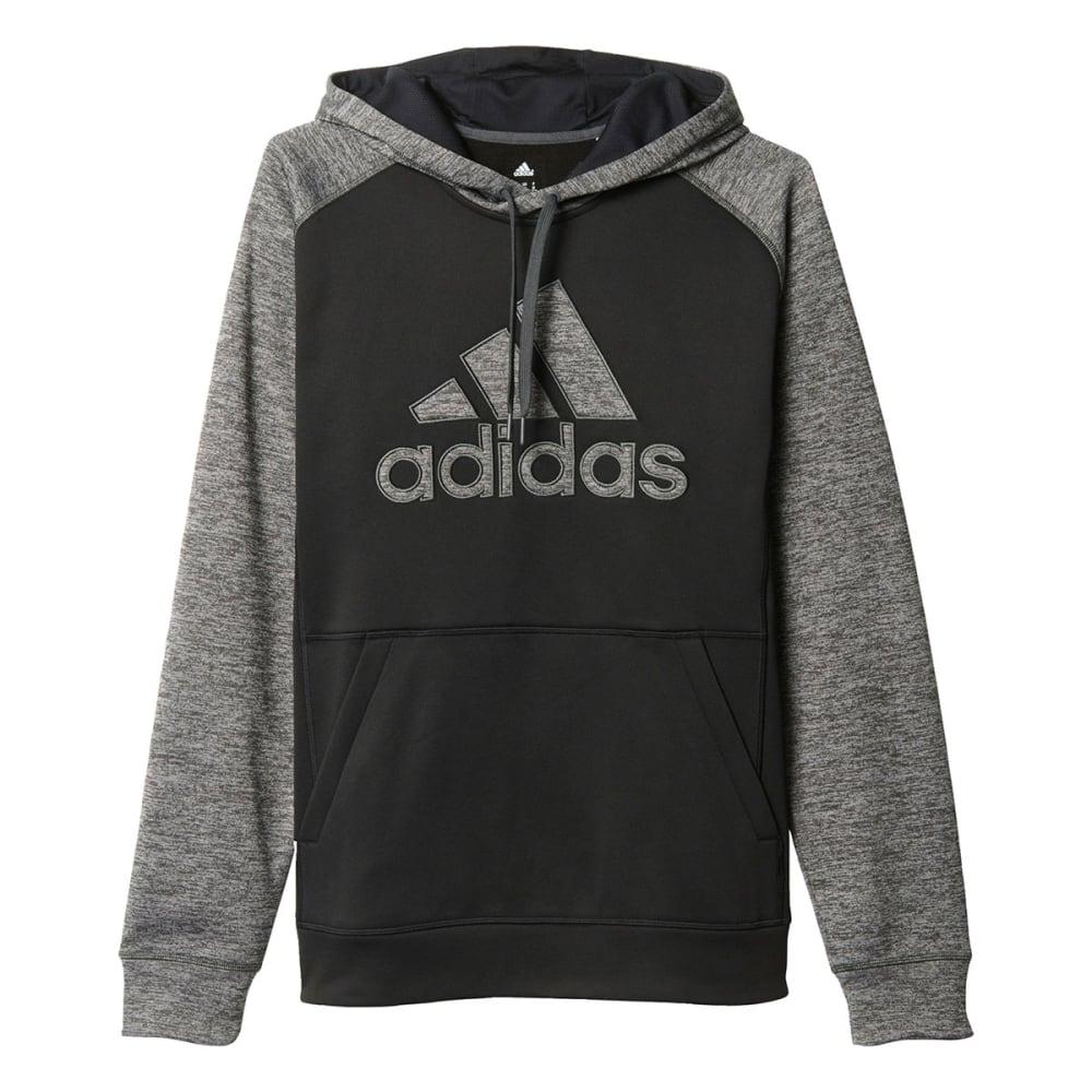 ADIDAS Men's Team Issue Fleece Pullover Applique Hoodie - BLACK-AY7474