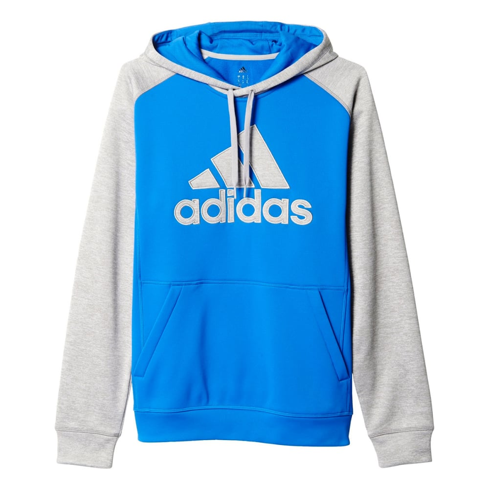 ADIDAS Men's Team Issue Fleece Pullover Applique Hoodie - BLUE-AY7475