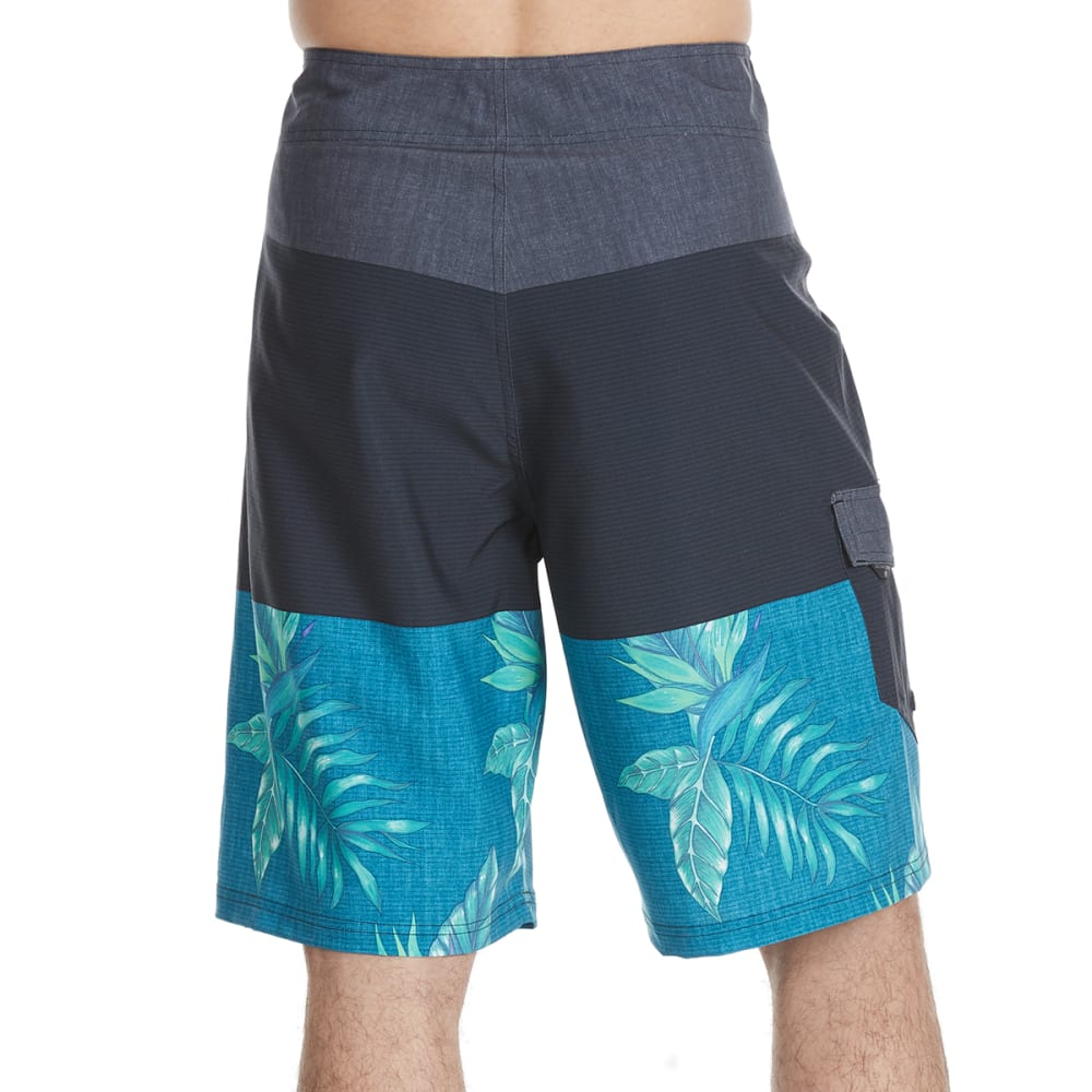 OCEAN CURRENT Guys' Koppen Tri-Block Boardshorts - GREEN