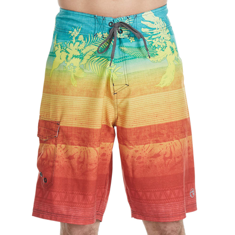 OCEAN CURRENT Guys' Fiji Boardshorts - ORANGE