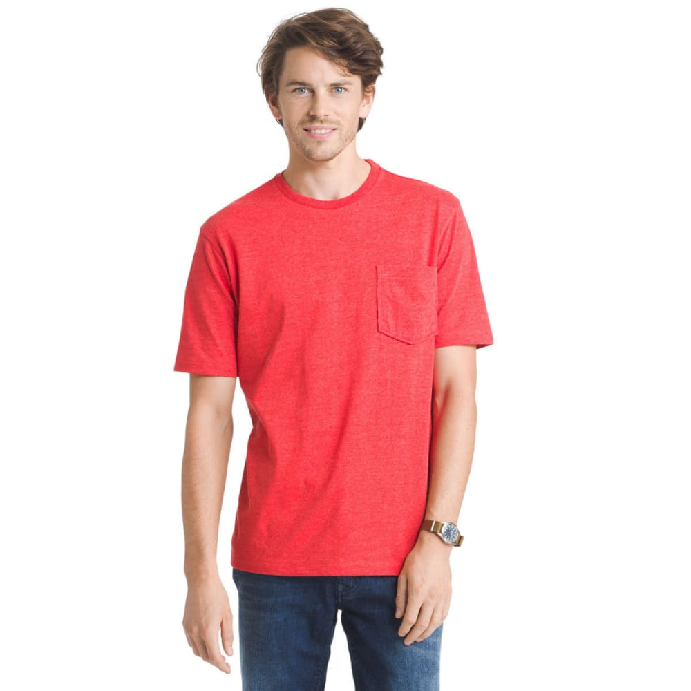G.h. Bass & Co. Men's Explorer Performance Heather Jersey Pocket Short-Sleeve Tee - Red, M