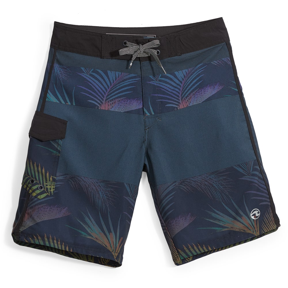 OCEAN CURRENT Guys' Bermuda Tropical Boardshorts - BLACK