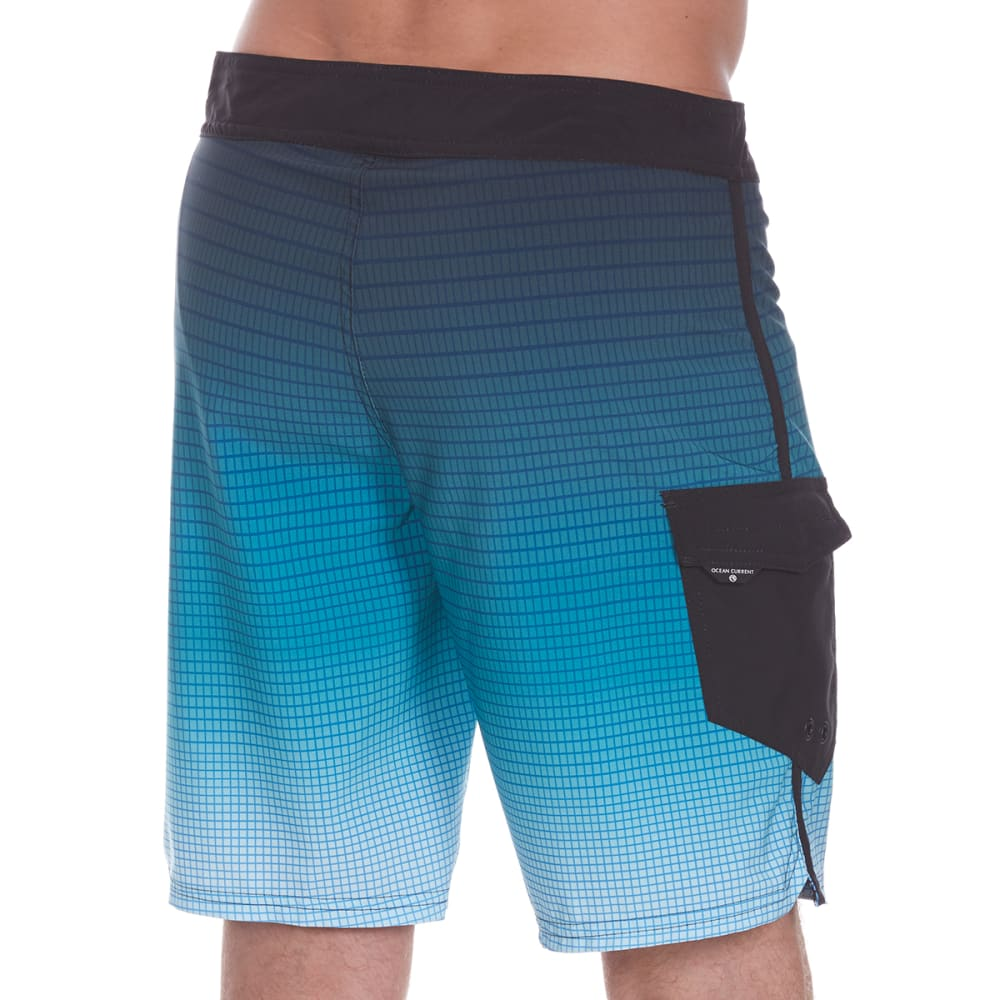 OCEAN CURRENT Guys' Gridlock Boardshorts - BLUE