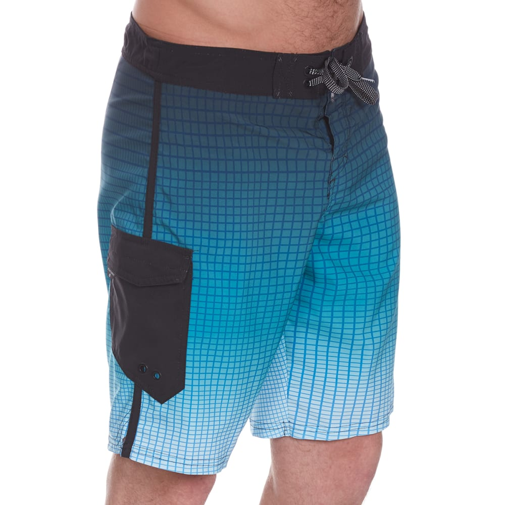 OCEAN CURRENT Guys' Gridlock Boardshorts - BLUE