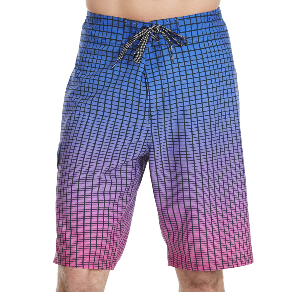 OCEAN CURRENT Guys' Gridder Boardshorts - PINK